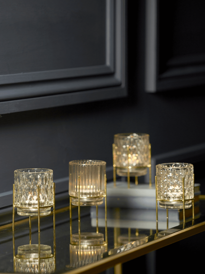NEW Four Textured Standing Tealight Holders