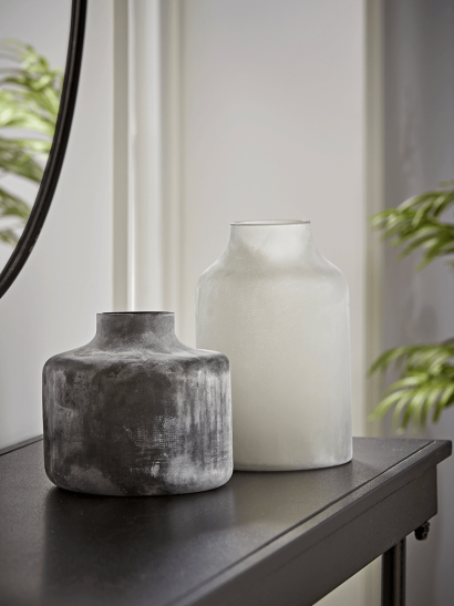 NEW Two Frosted Bottle Vases