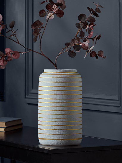 NEW Golden Stripe Tall Vase
