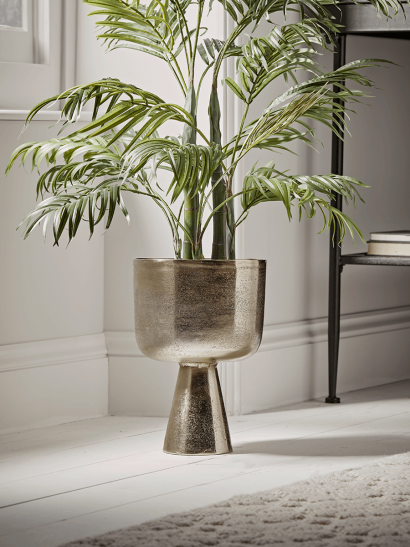 NEW Textured Gold Footed Planter