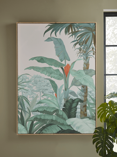 NEW Tropical Palms Framed Canvas