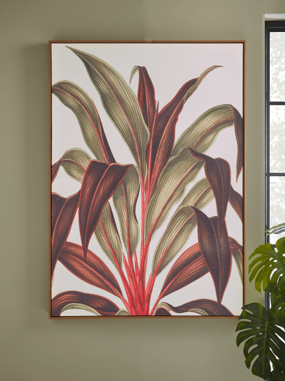 NEW Hothouse Leaves Framed Canvas