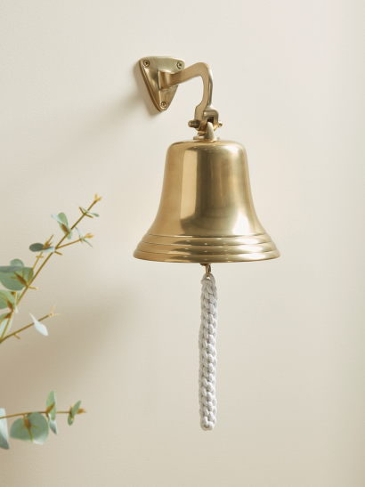 NEW Wall Mounted Brass Ships Bell