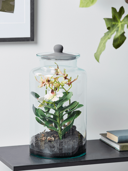 NEW Faux Orchid Display Jar