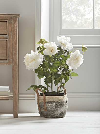 NEW Faux Potted Peony  - White