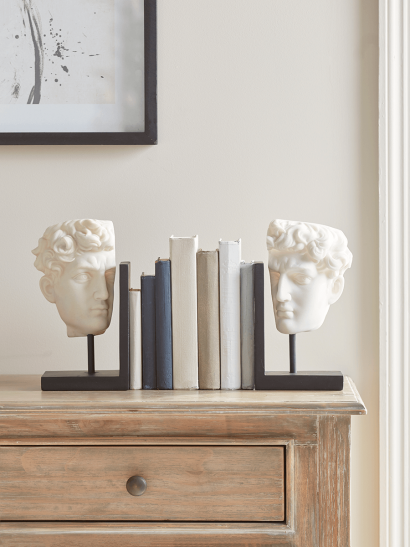 NEW Classical Head Bookends