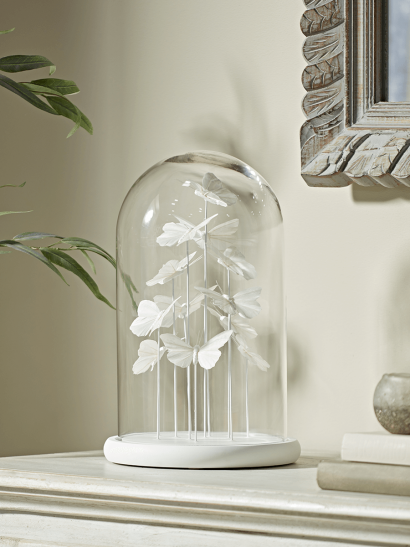 NEW White Butterfly Bell Jar