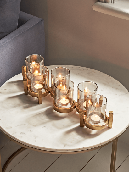 NEW Bronze Standing Candle Holders