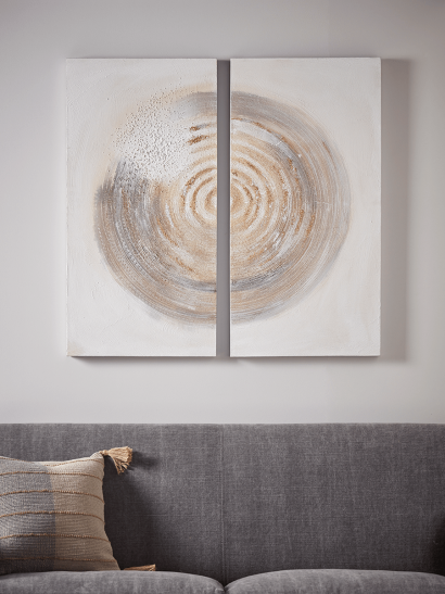 NEW Two Spiral Canvases