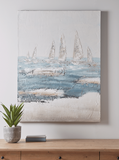 NEW Abstract Harbour Canvas