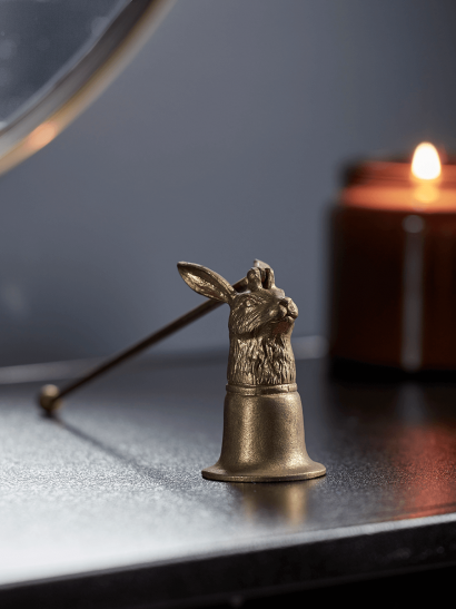NEW Antique Gold Hare Candle Snuffer