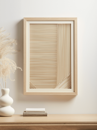 NEW Layered Paper Framed Print