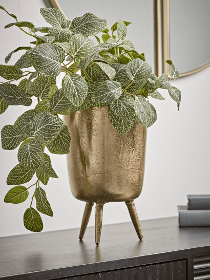 NEW Gold Standing Planter - Fluted