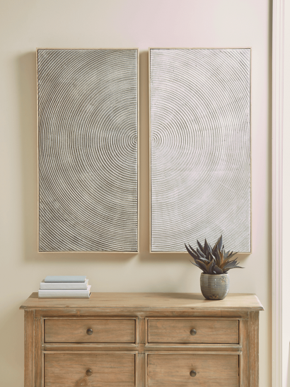 NEW Two Spiral Panel Wall Art