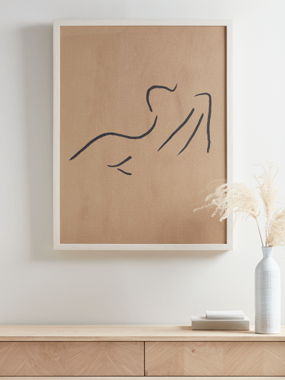 NEW Silhouette Nude Framed Print