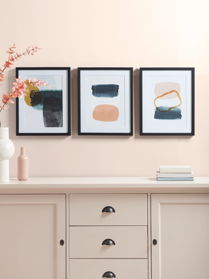 NEW Three Abstract Framed Prints