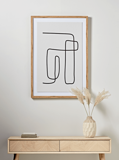 NEW Abstract Line Framed Print