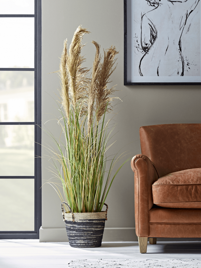 NEW Faux Potted Pampas Grass