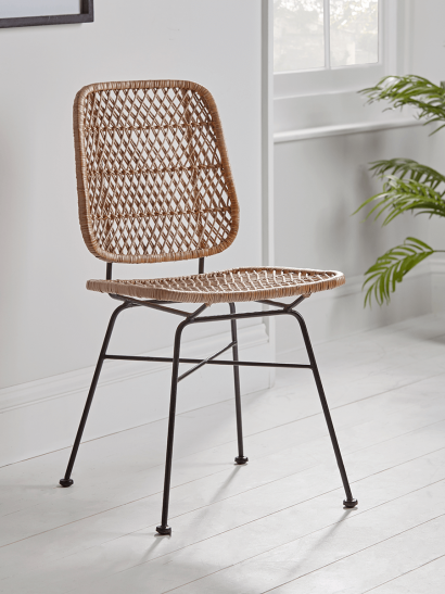 Woven Wicker Dining Chair