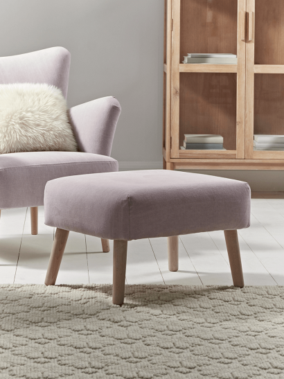NEW Mads Footstool - Blush