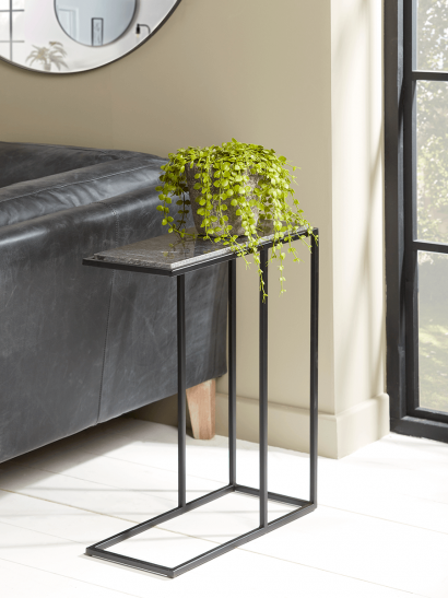 NEW Marble Topped Sofa Side Table