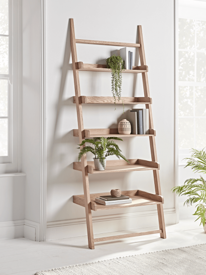 NEW Weathered Oak Shelf Ladder
