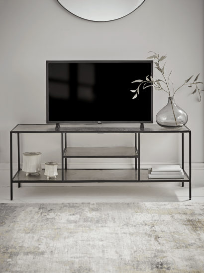 NEW Textured Topped Metal Media Unit - Burnished Silver