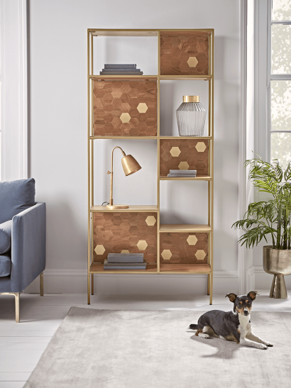 NEW Hive Brass Inlay Bookcase