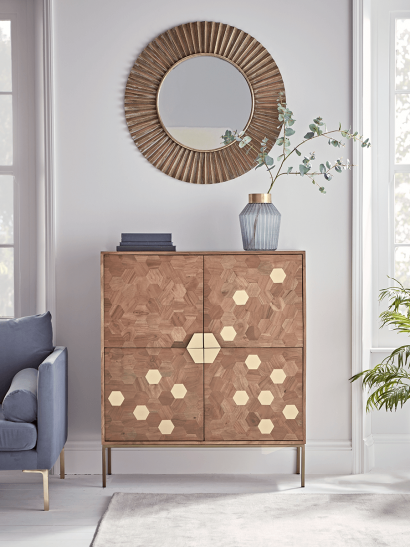 NEW Hive Brass Inlay Cabinet