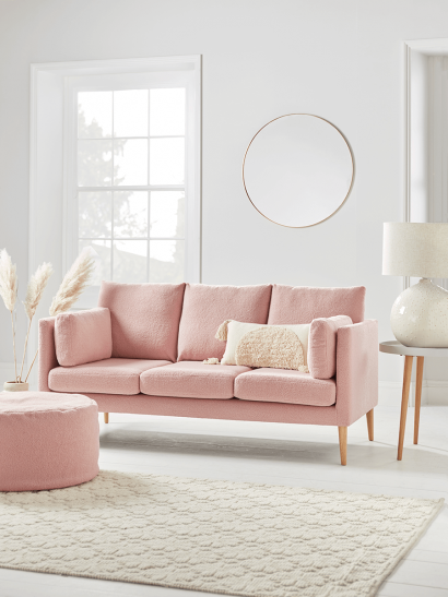 NEW Teddy Sofa - Powder Pink
