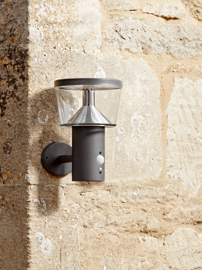 NEW Solar Charcoal Sensor Wall light