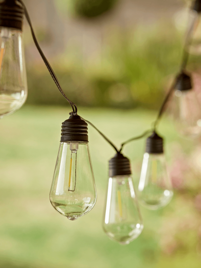 NEW Solar Filament Bulb Festoon Lights