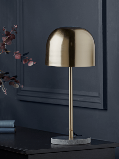 NEW Gold & Marble Table Lamp