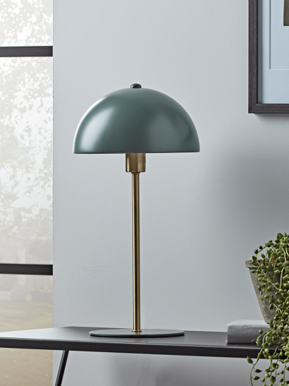 NEW Deep Sage & Brass Rounded Desk Lamp