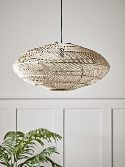 NEW Woven Wicker Shade - Lines