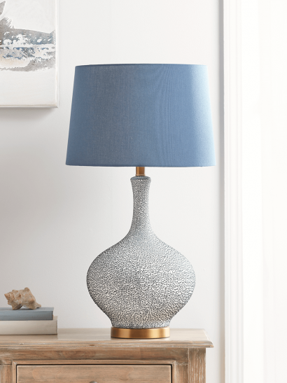 NEW Blue Speckled Table Lamp