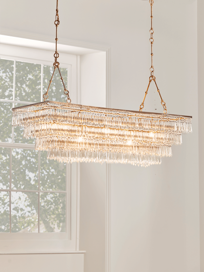 NEW Grand Tiered Droplets Chandelier