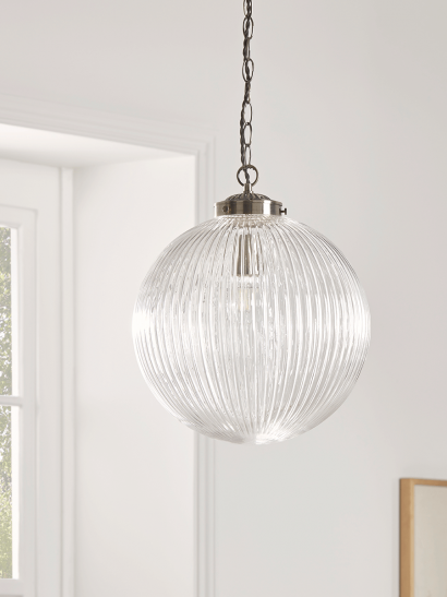NEW Deco Round Fluted Pendant - Large