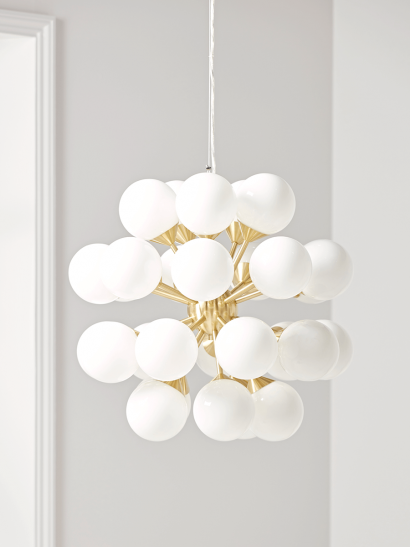 NEW Frosted Globe Cluster Pendant