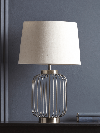 NEW Antique Bronze Cage Table Lamp