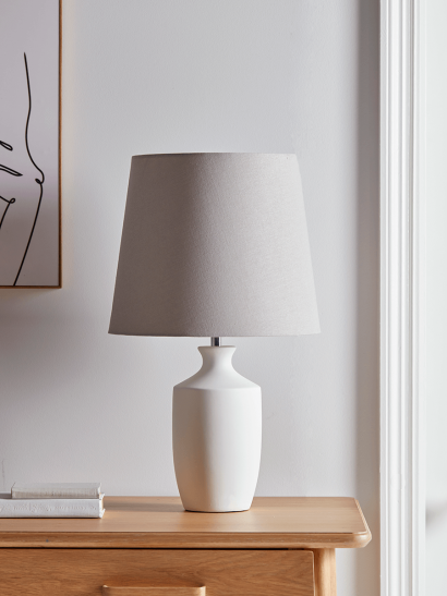 NEW Matte Grey Table Lamp