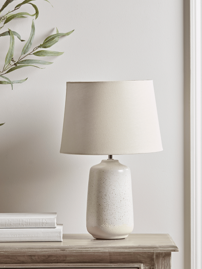 NEW Resist Glaze Speckled Table Lamp