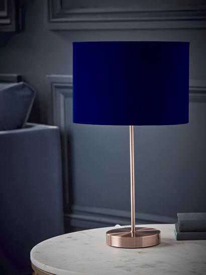 NEW Copper & Navy Table Lamp