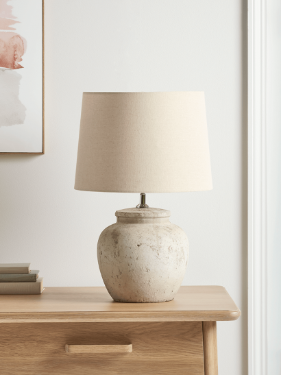 NEW Textured Cement Table Lamp