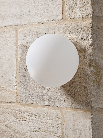NEW Outdoor Frosted Globe Wall Light