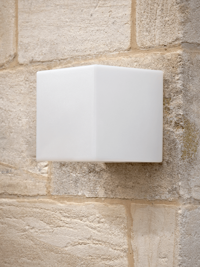 NEW Outdoor Frosted Cube Wall Light