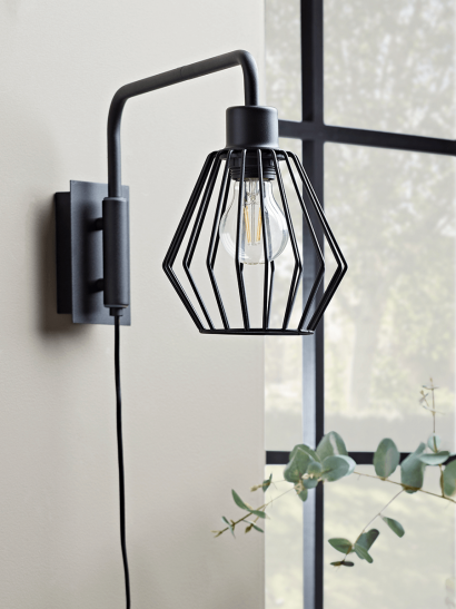 NEW Caged Industrial Wall Light