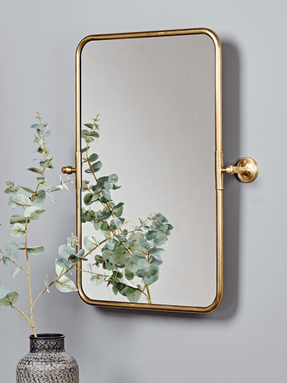 NEW French Rectangle Wall Mirror -  Brass