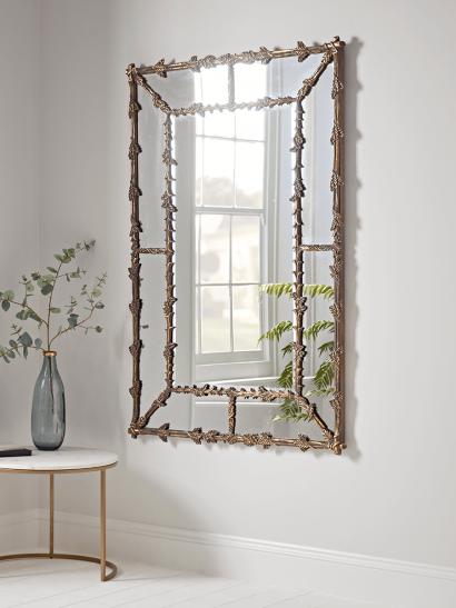 NEW Delicate Golden Leaves Mirror
