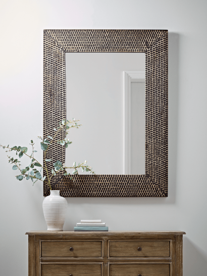 NEW Hammered Frame Wall Mirror